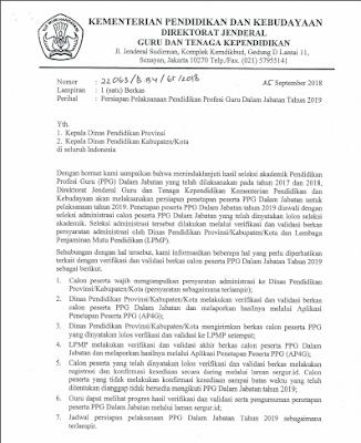 Geveducation:  Persiapan Pelaksanaan PPG Dalam Jabatan (PPGJ) Tahun 2019