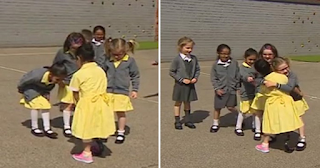7χρονη τρέχει στο Σχολείο για να δείξει στους φίλους της το προσθετικό Της πόδι. Η αντίδρασή τους; Μοναδική!!!