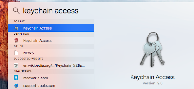Mac keychain Access