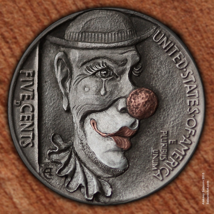 09-Illusion-Clown-Aleksey-Saburov-Detailed-Carvings-on-Hobo-Nickel-Coins-www-designstack-co
