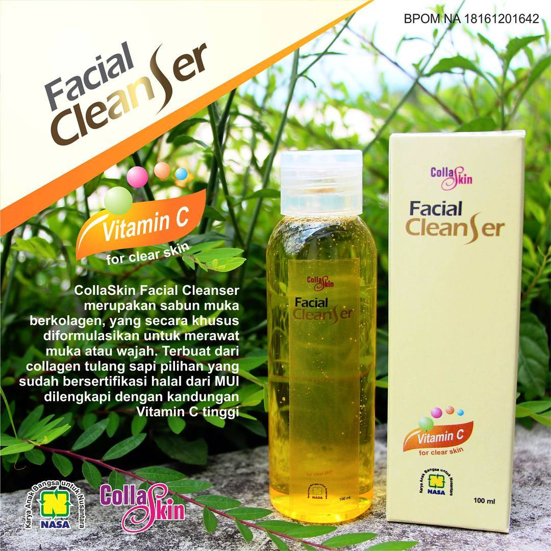 COLLAGEN FACIAL CLEANSER, PEMBERSIH WAJAH ALAMI