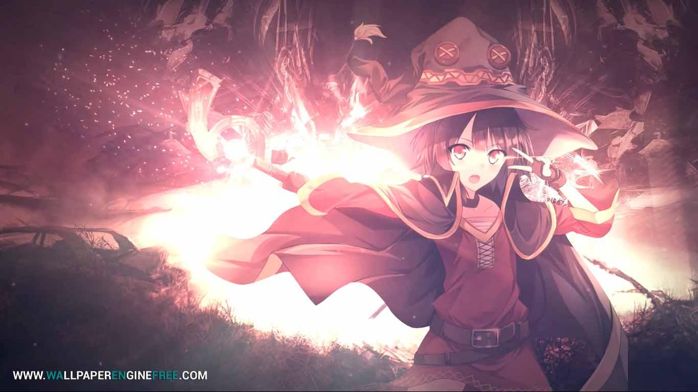Megumin Anime 1080p 60fps Wallpaper Engine Download Wallpaper Engine Wallpapers Free