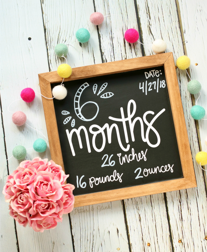 DIY Baby Monthly Chalkboard Photo Prop Baby Shower Gift