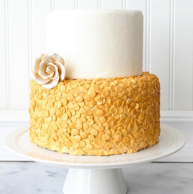 sequin cake recipe and tutorial