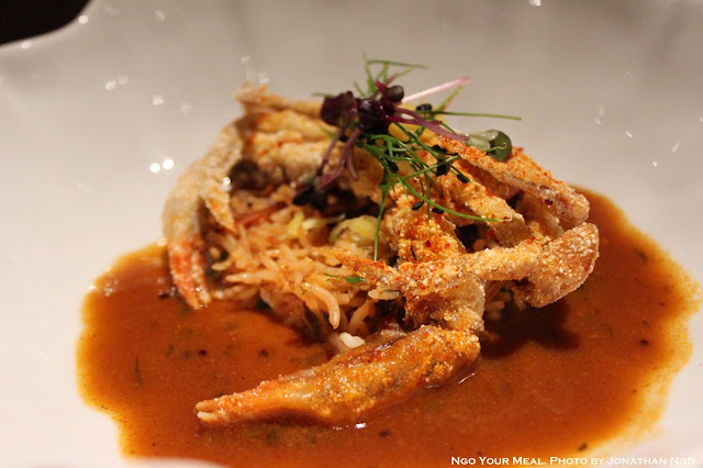 Soft-Shell Crab Koliwada, Malvani Dried Shrimp Pulao at Indian Accent