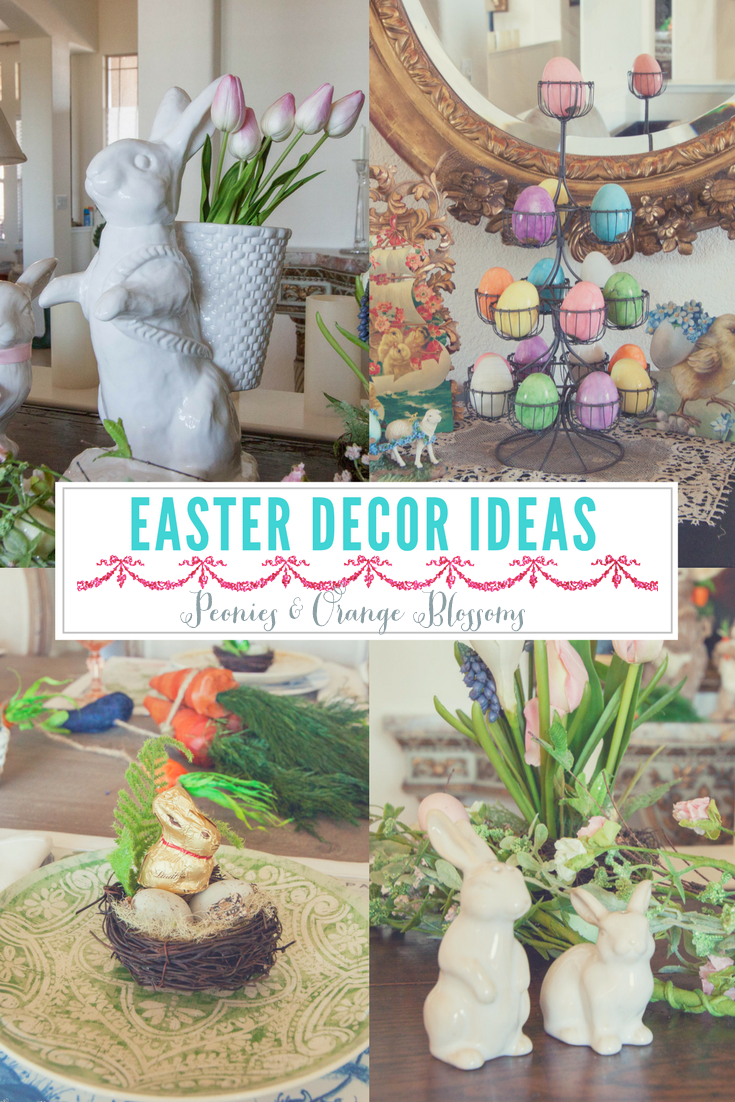 Peonies and orange blossoms easter decorating ideas an for Easter decorations ideas for the home