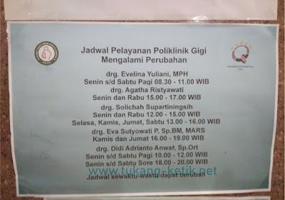 Jadwal Pelayanan Poliklinik Gigi di Rumah Sakit Sarila Husada Sragen