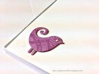 dziurkacz ptaszek w albumie od galerii schaffar papierowe rękodzieło