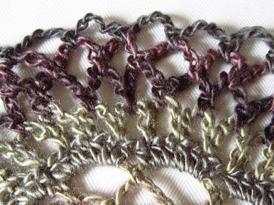 crochet, design, lace, color changing