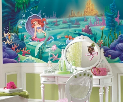 Childrens wall murals Mermaid