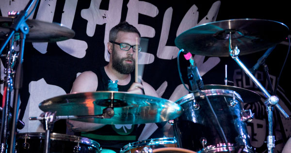"""A Wilhelm Scream drum cam for """"Skid Rock"""" and """"Born A Wise Man"""""""