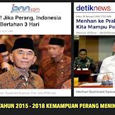 Dulu Menhan Bilang, Jika Perang Indonesia Hanya Bertahan 3 Hari, Sekarang Kok Berubah?