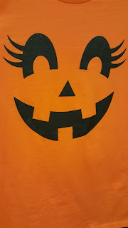 Pumpkin Face Girls T-Shirt