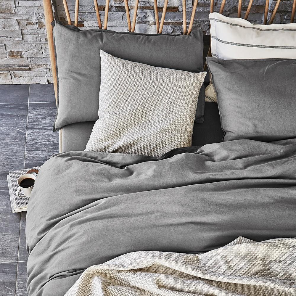 grey pastel bed linen