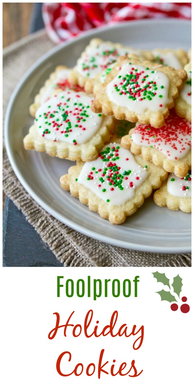 Foolproof Holiday Cookies #cookies #christmascookies