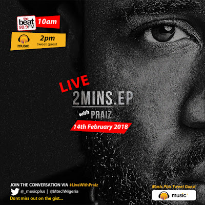 Music Plus Live Banner Praiz - Win a dinner date for Two with Praiz this valentine