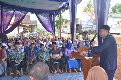 Kungker Di Desa Sinar Galih, Bupati Lampura Dialog Dengan Masyarakat