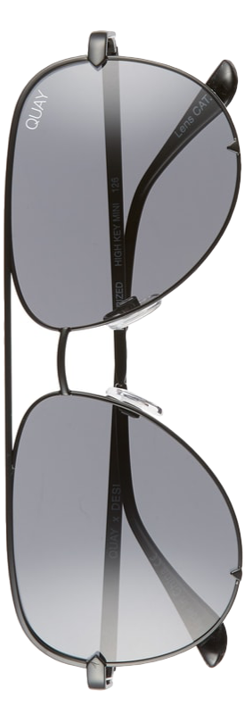 Quay x Desi Perkins High Key Mini 57mm Aviator Sunglasses