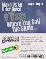Make Us An Offer Days Starting Aug 1st