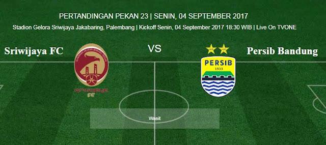 Prediksi Sriwijaya FC vs Persib Bandung 4 September 2017