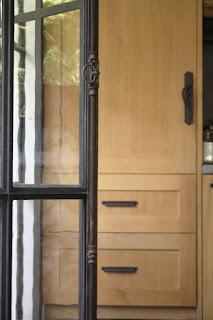 Custom Iron Doors & Refrigerator Panel - Design by LeAnn, linenandlavender.net