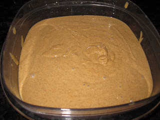 Making raw almond butter in blender