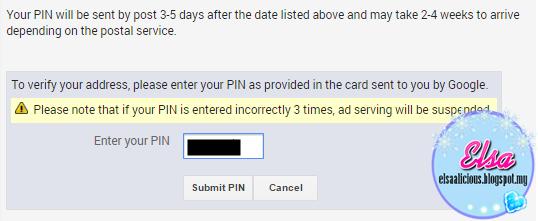 Google AdSense PIN Selamat Sampai Di Rumah