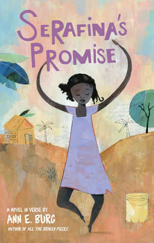 Serafina's Promise by Ann Burg is a fast read for 4th through 8th graders written in free verse.  Teachers will love the visuals, imagery, and similes throughout the story.  Girls will read this book, boys will have to be strongly encouraged to read it.  Alohamora Open a Book  http://www.alohamoraopenabook.blogspot.com/