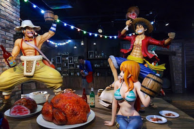 Straw Hat Pirates Feast Party at Tokyo One Piece Tower Japan