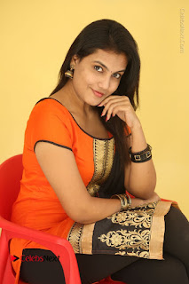 Telugu Actress Chandana Stills in Salwar Kameez at Karam Dosa Movie Press Meet  0071.JPG
