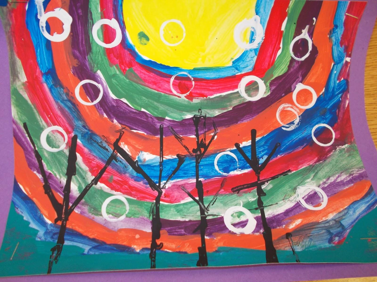 Mrs Pierce S Polka Dot Spot Painted Rainbow Skyline