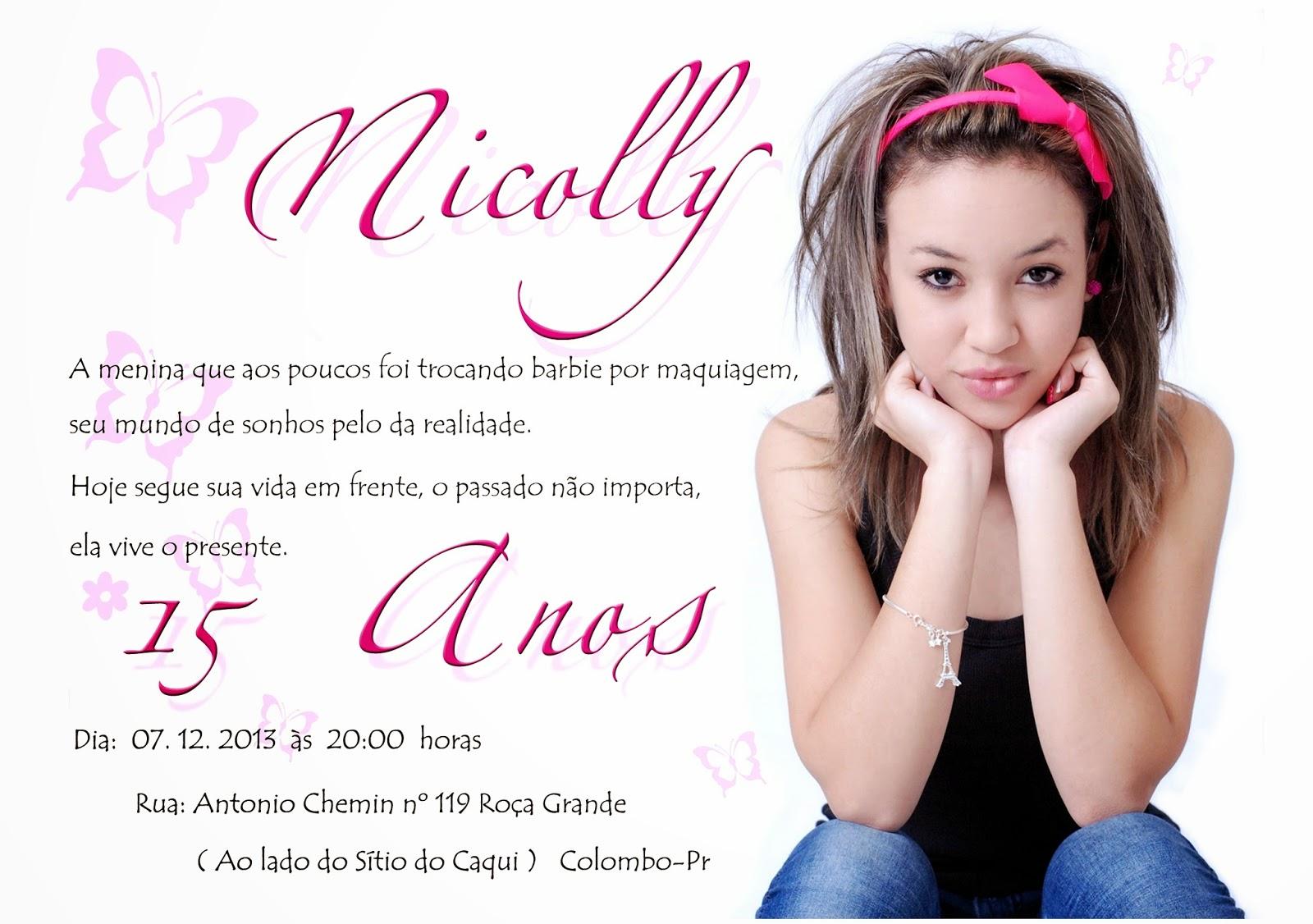 Convite De Aniversario De 15 Anos: Tel 9640.8727: Aniversário 15 Anos