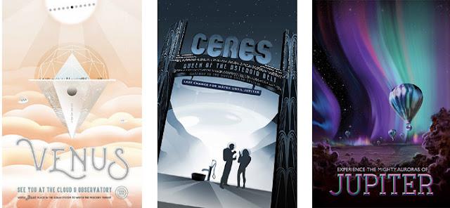 Posters de viagem espacial - NASA 2