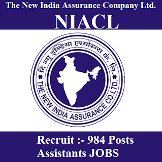 The New India Assurance Company Limited, NIACL, Assistant, Graduation, freejobalert, Sarkari Naukri, Latest Jobs, niacl logo