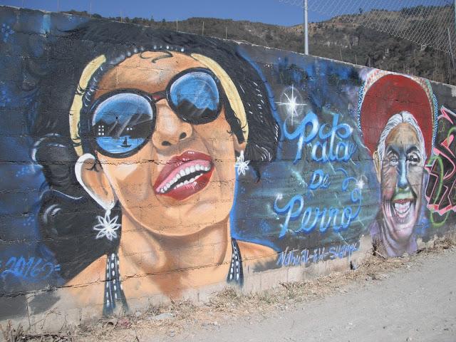 graffiti wall art Panajachel Guatemala woman
