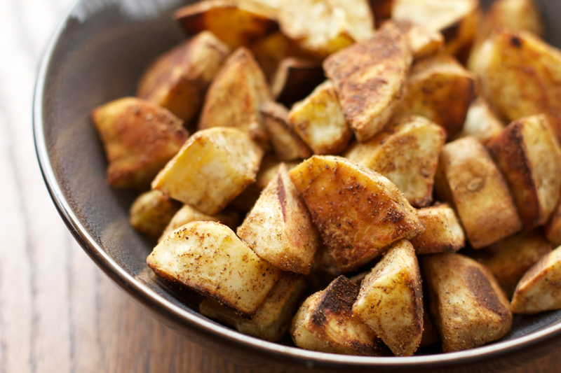 Indian-spiced Roasted Sweet Potatoes || A Less Processed Life
