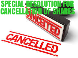 Special-Resolution-For-Cancellation-of-Shares