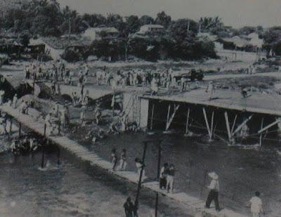 Construcción del puente del Rio Cuale en Puerto Vallarta