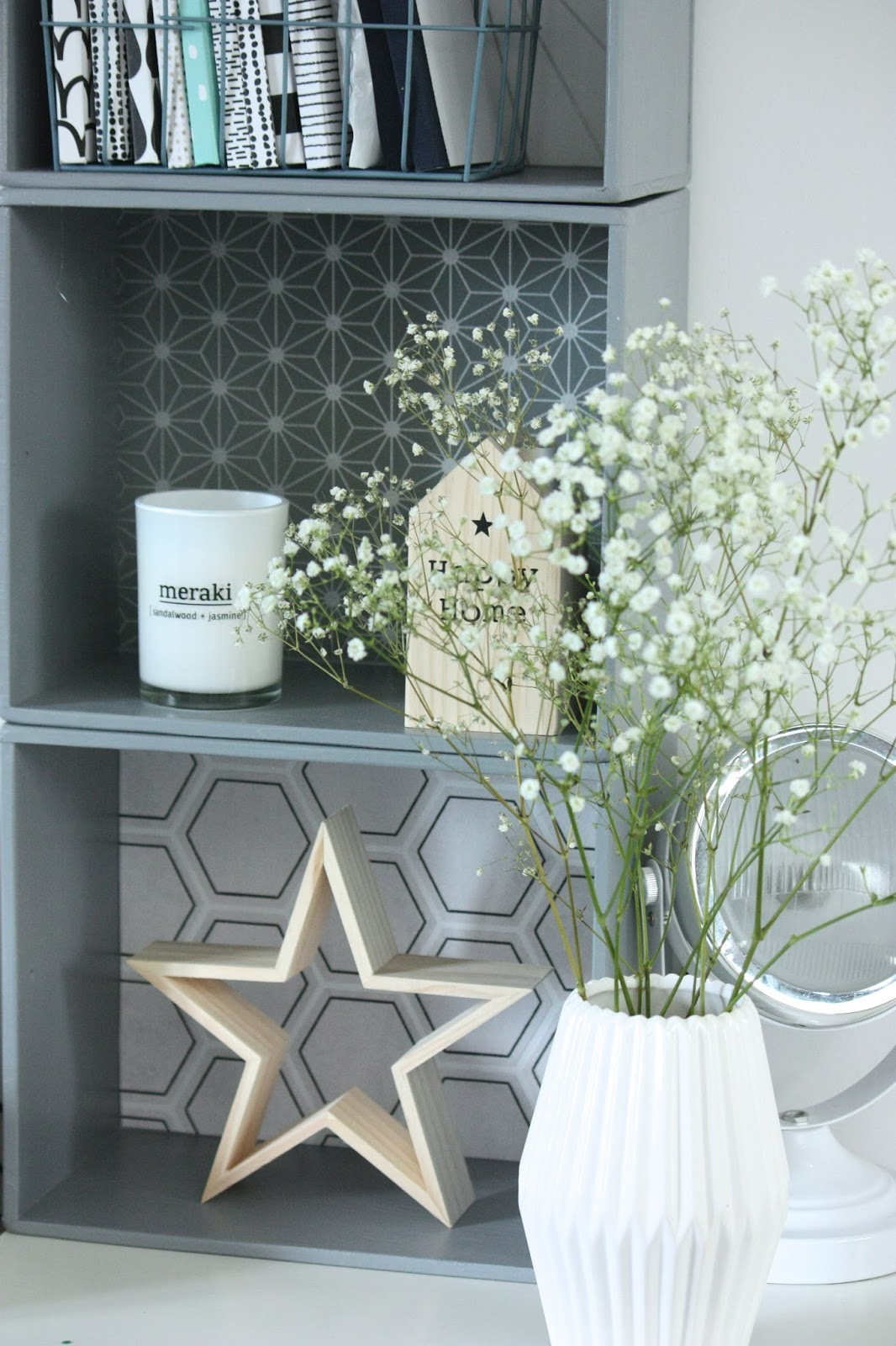 un nouveau regard papier peint un diy tendance facile faire. Black Bedroom Furniture Sets. Home Design Ideas