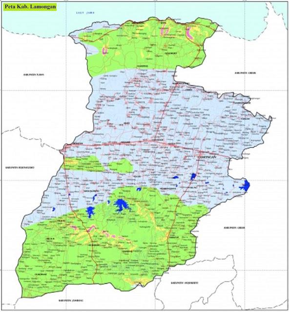Peta Kabupaten Lamongan