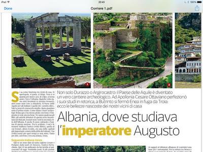 Albania, dove studiava l'imperatore Augusto (Corriere della Sera)