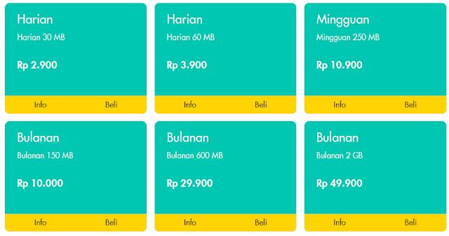 Harga Paket Internet Im3 Ooredoo Terbaru 2016 harian mingguan