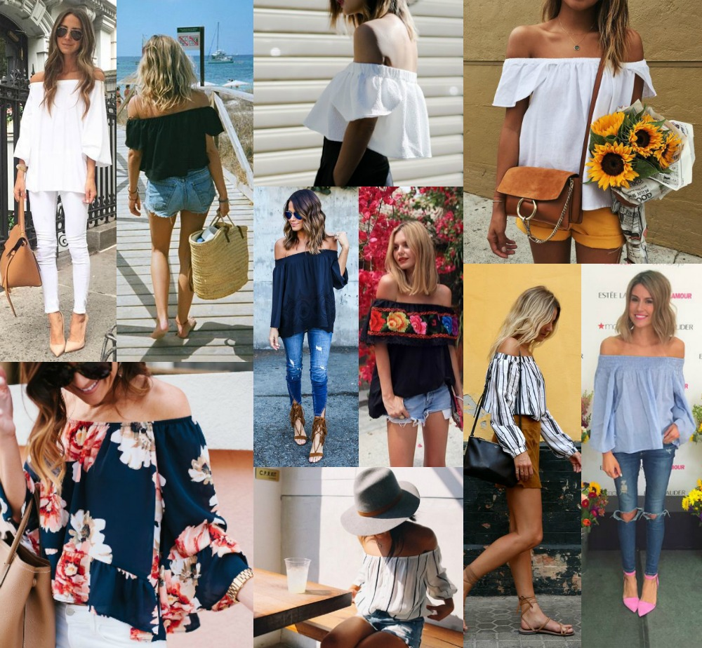 How to wear the bardot top