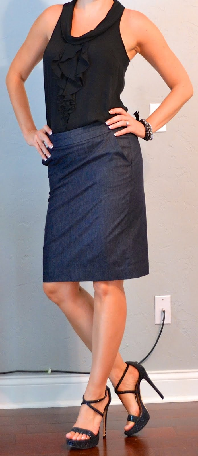 Apologise, but, pencil skirt heels cleared