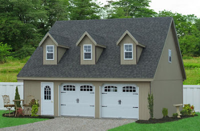 dimensions for a two car garage in PA