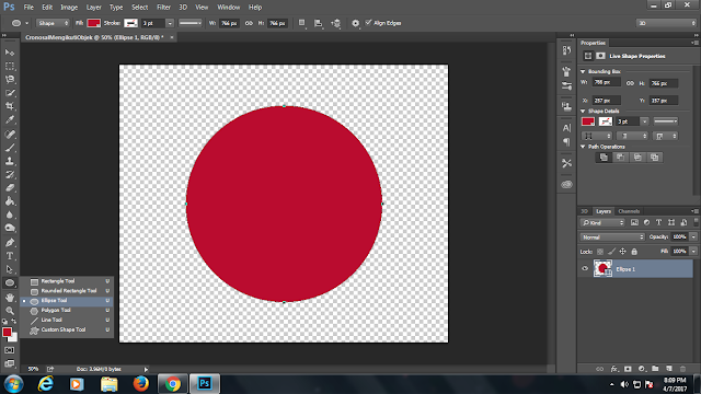 photoshop,teks mengikuti objek,shapes,new shapes