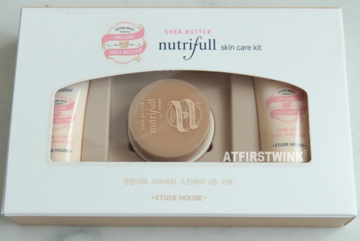 Etude House Shea Butter Nutriful skin care kit freebie