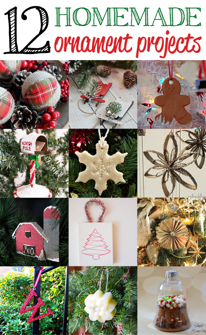 Got A Full Dozen Features For You12 Homemade Ornament Projects Linked Up To Last Weeks Party That Are Perfect For Crafting And Creating This Season
