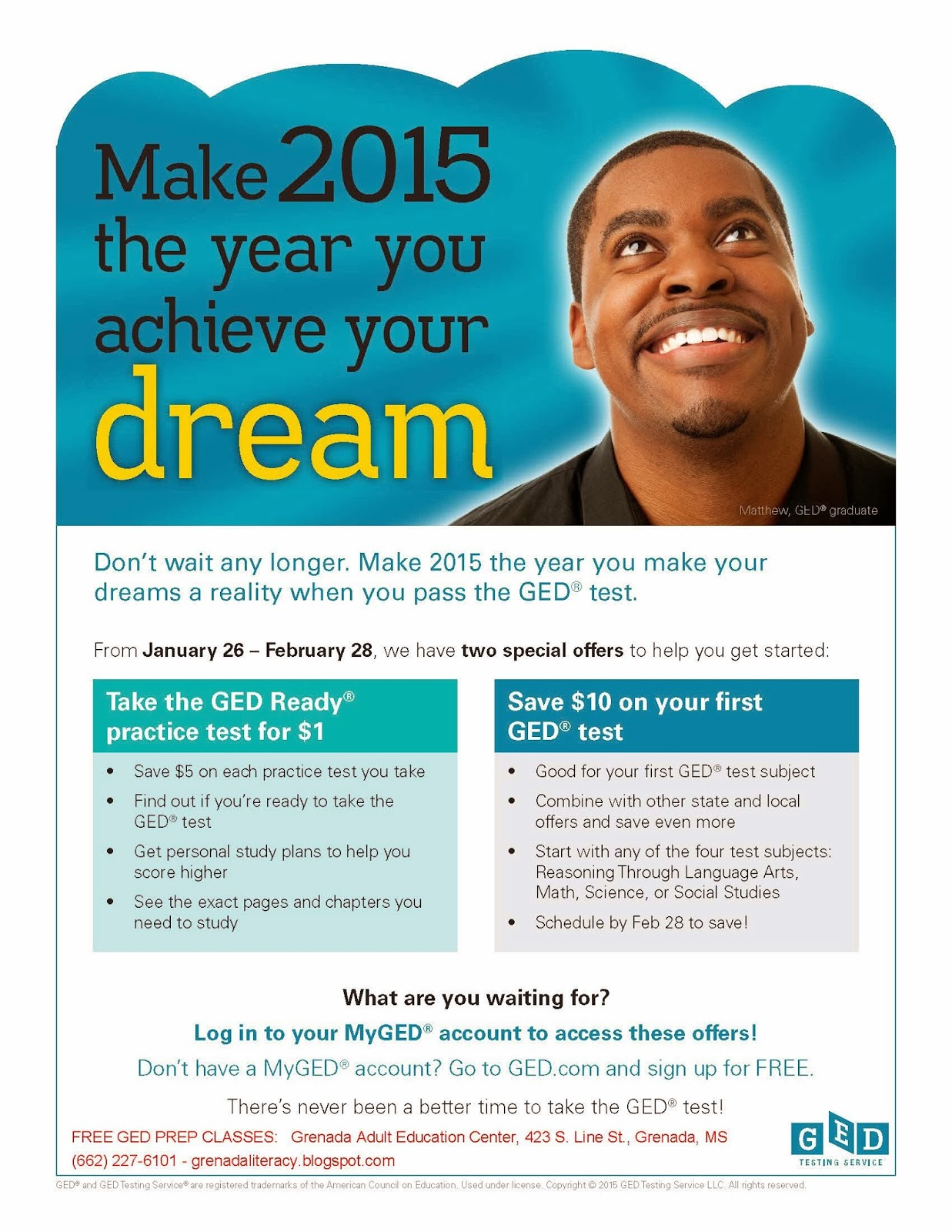 Grenada League For Adult Development Glad Ged Discounts Available Through Feb 28th