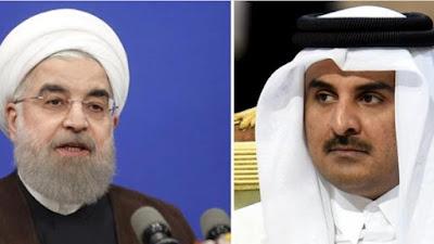 أمير قطر ورئيس إيران